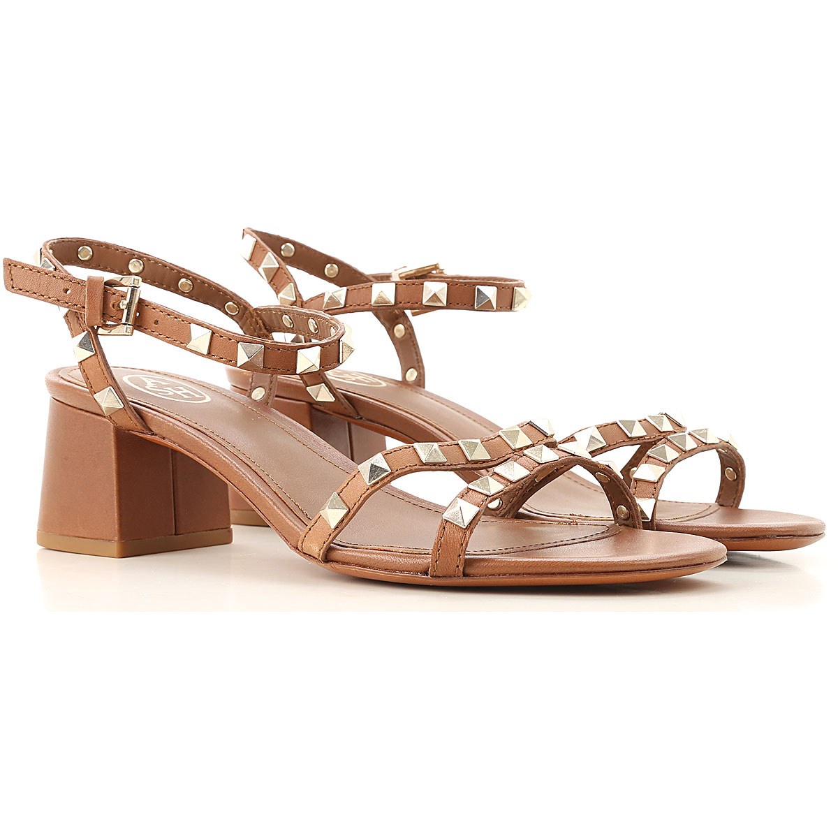 Ash Sandals for Women brown leather USA - GOOFASH