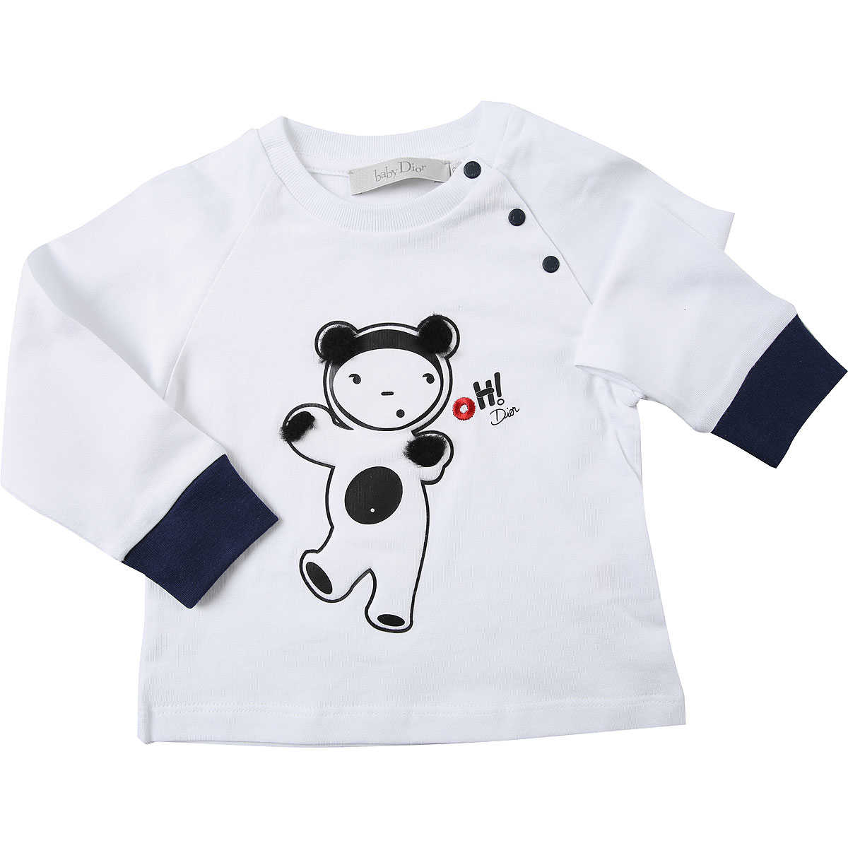 Baby Dior Baby T-Shirt for Boys On Sale White SE - GOOFASH