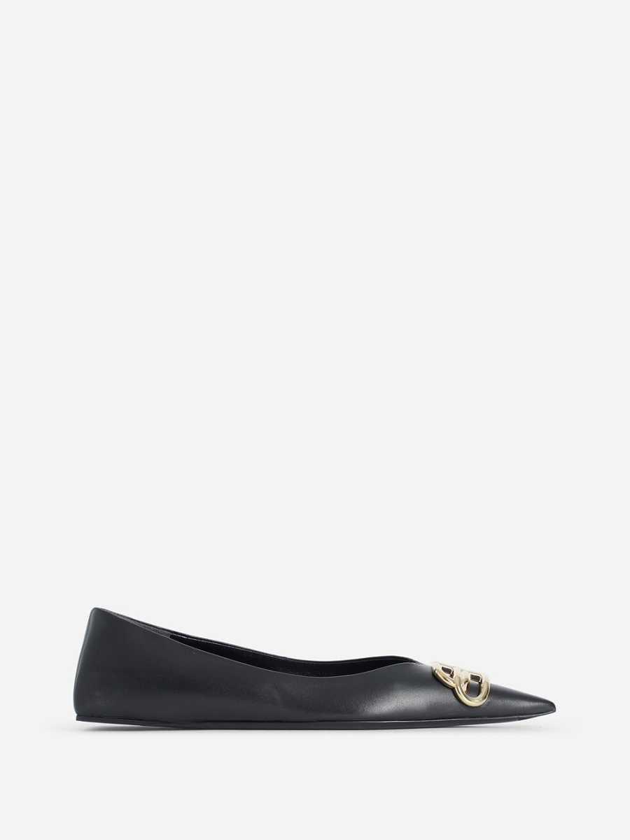 Balenciaga Flats Black UK - GOOFASH
