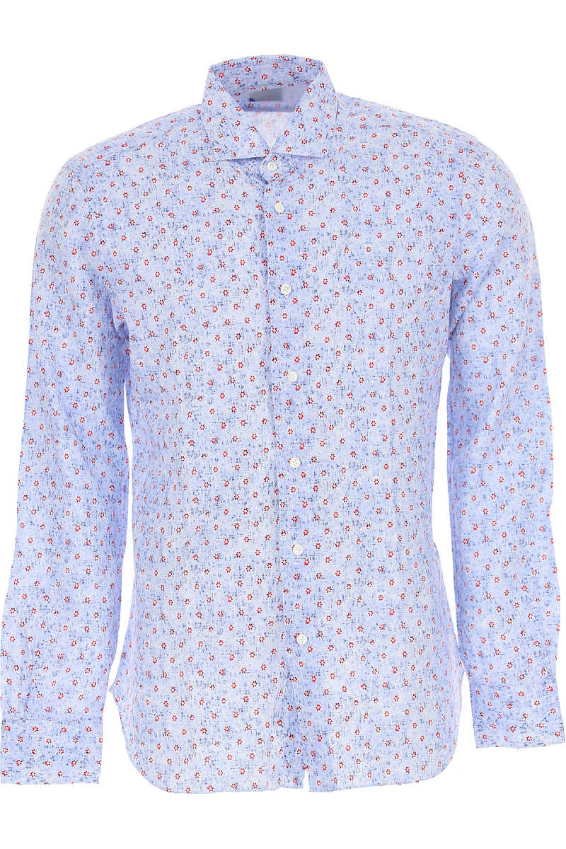 Barba Shirt for Men On Sale in Outlet Light Blue SE - GOOFASH