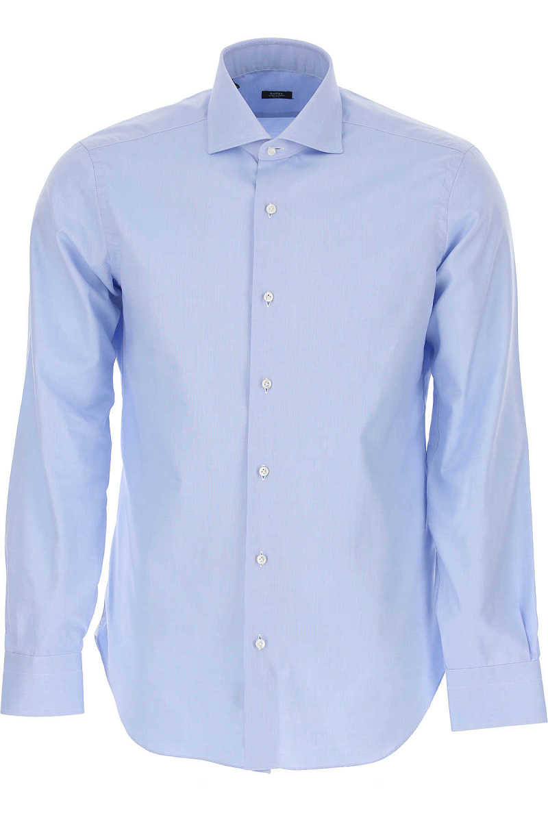 Barba Shirt for Men Sky Blue USA - GOOFASH