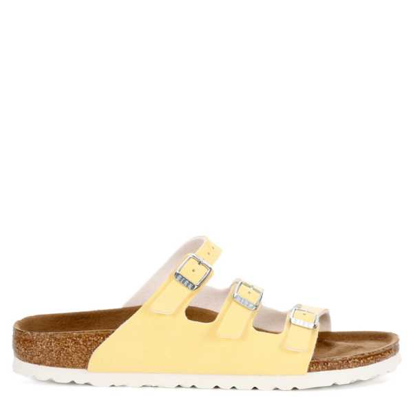 Birkenstock Womens Florida Pale Yellow USA - GOOFASH -