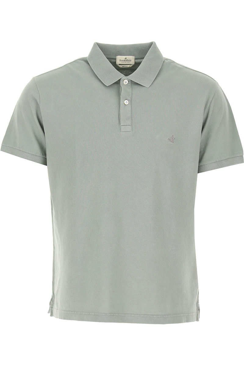 Brooksfield Polo Shirt for Men On Sale mineral Grey SE - GOOFASH