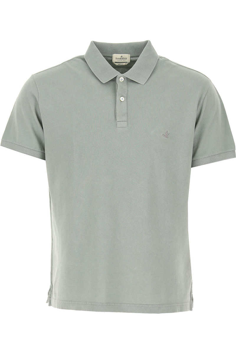 Brooksfield Polo Shirt for Men mineral Grey USA - GOOFASH