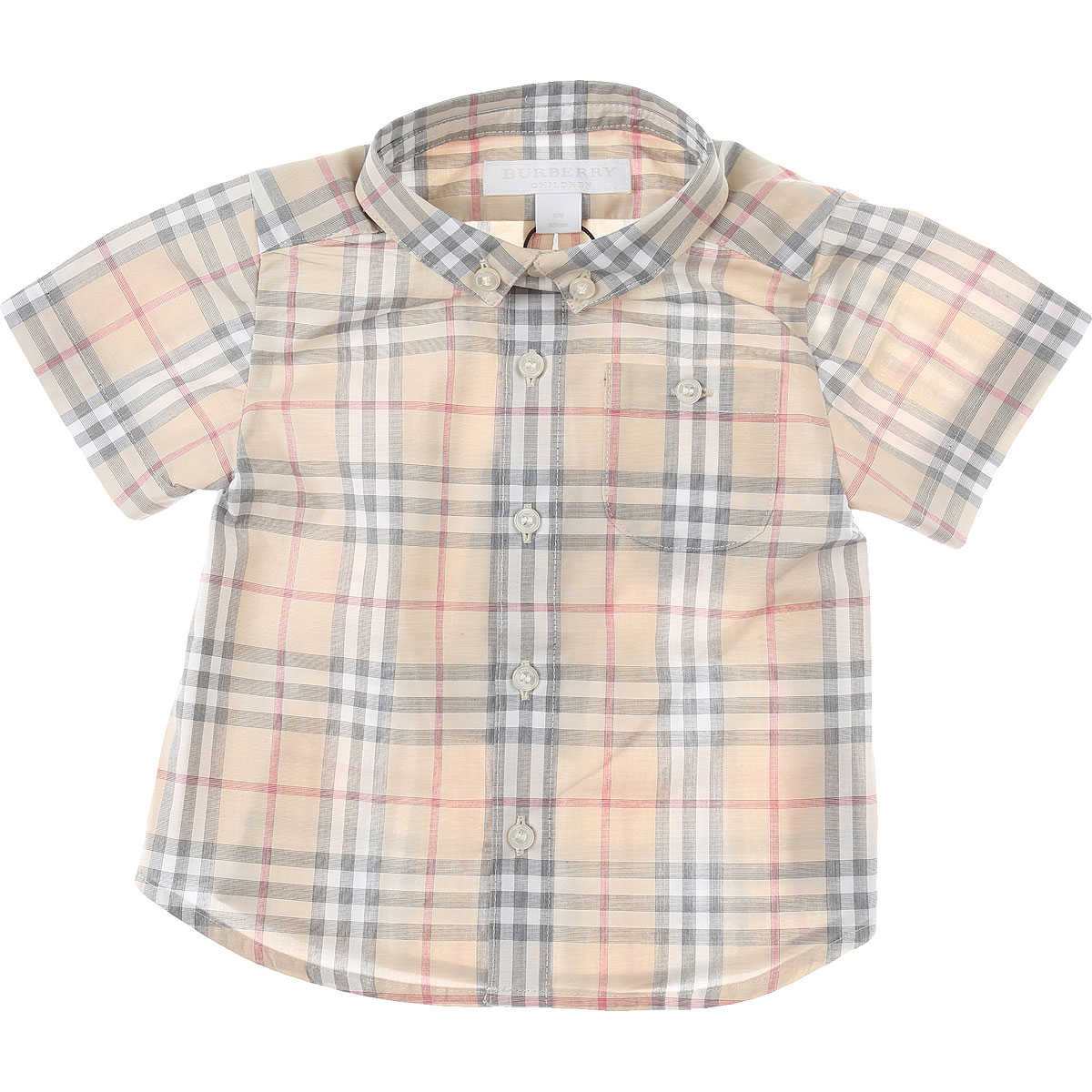 Burberry Baby Shirts for Boys Beige USA - GOOFASH