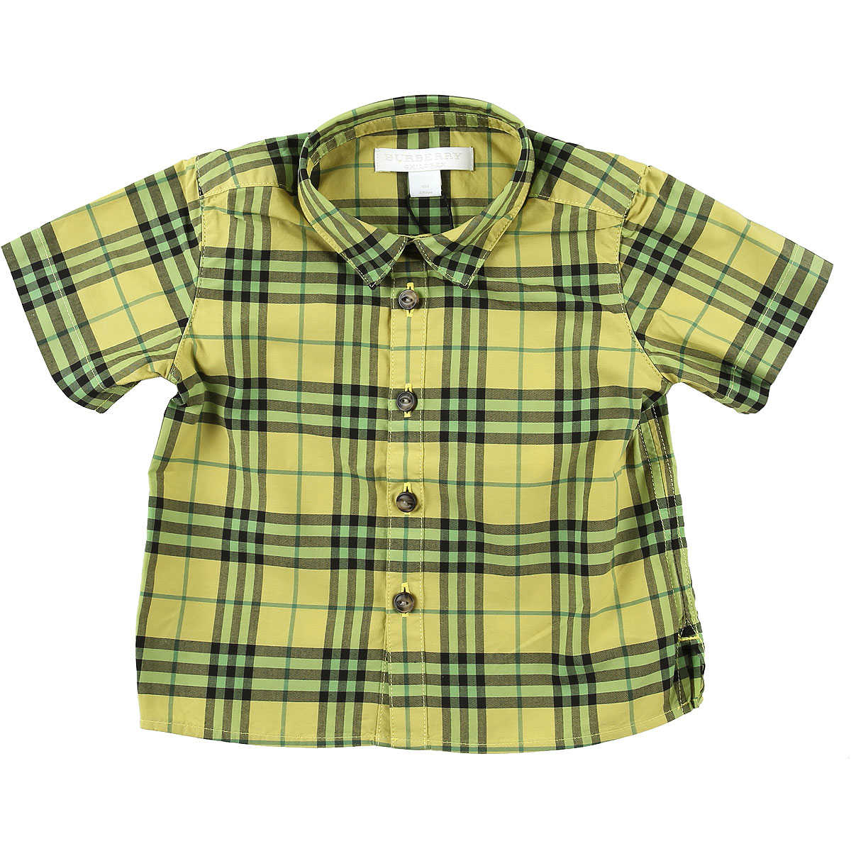 Burberry Baby Shirts for Boys Citron Green USA - GOOFASH