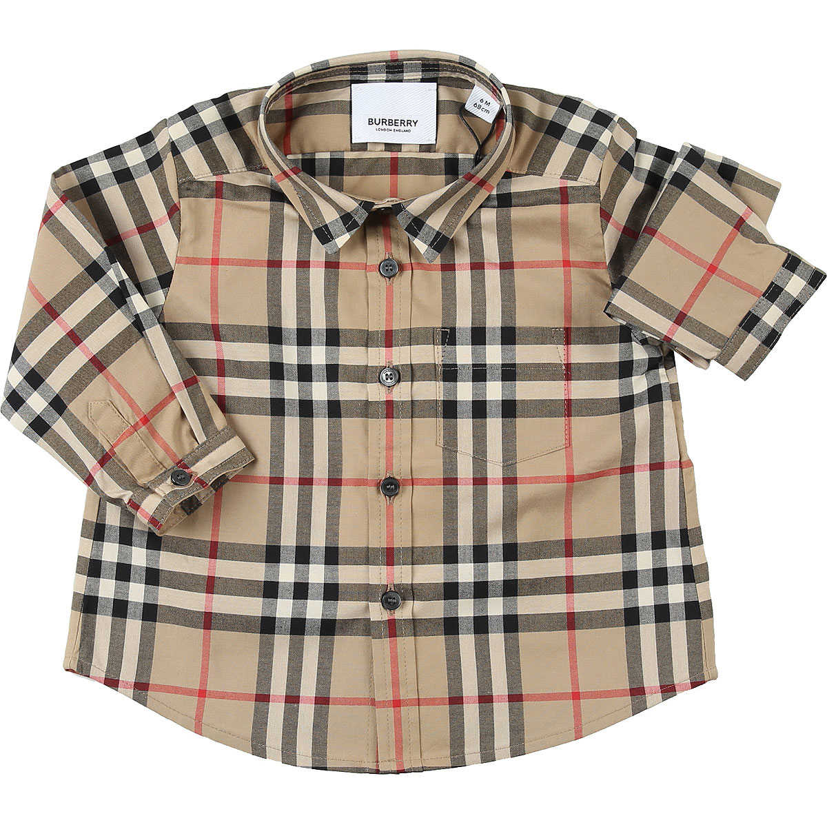 Burberry Baby Shirts for Boys Dark Beige USA - GOOFASH