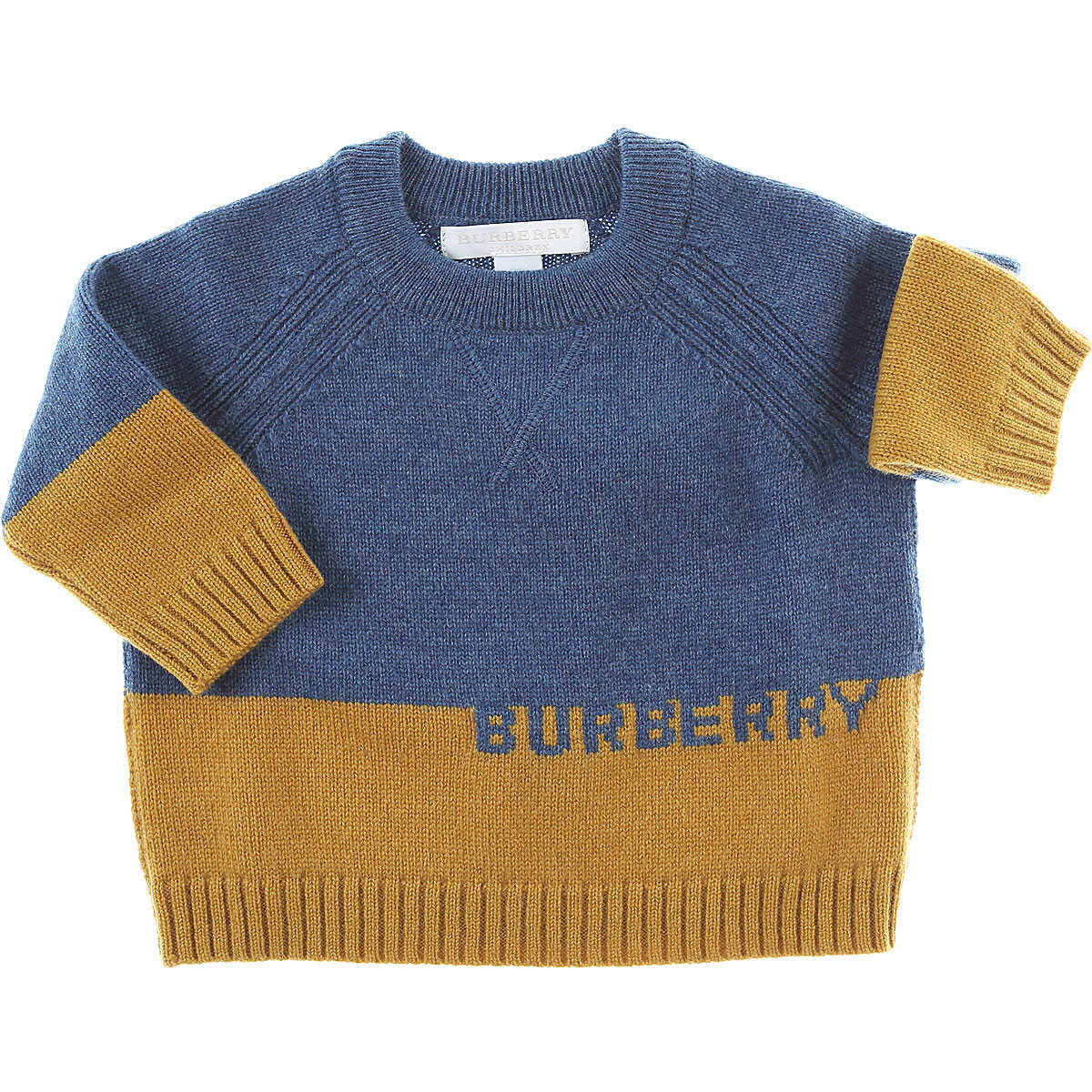 Burberry Baby Sweaters for Boys Blue USA - GOOFASH