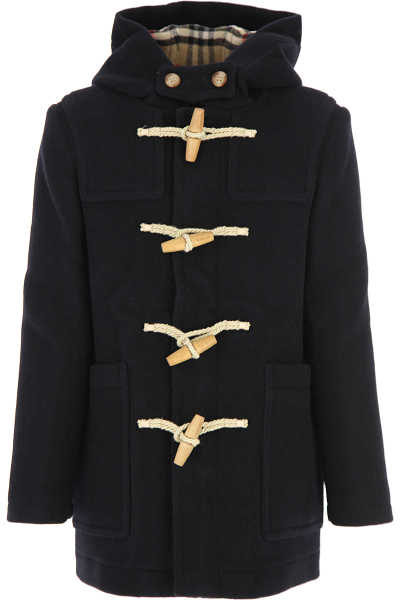 Burberry {DESIGNER} Kids Coat for Boys navy USA - GOOFASH