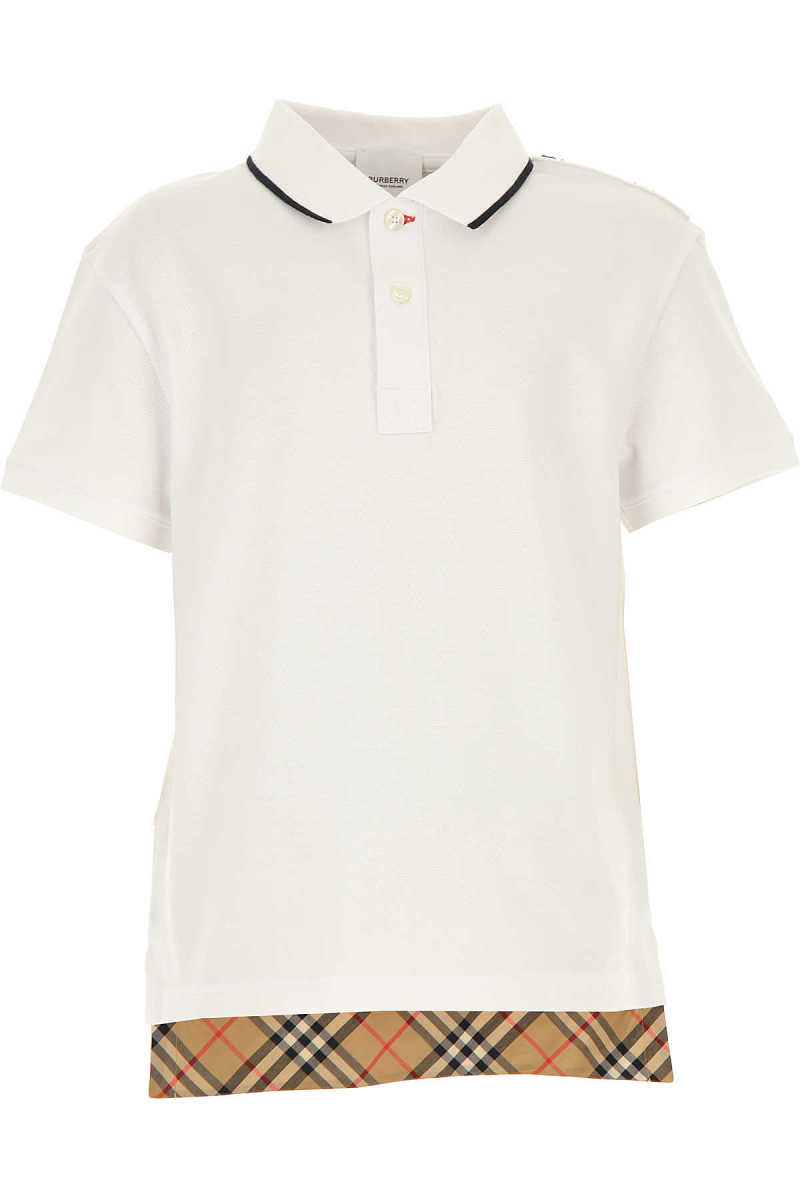 Burberry Kids Polo Shirt for Boys White USA - GOOFASH