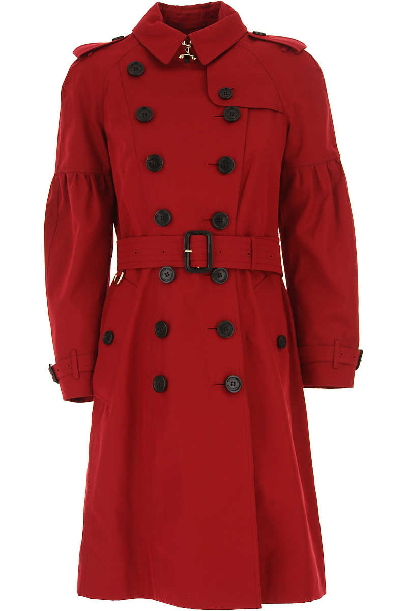 Burberry Women's Coat in Outlet Parade Red USA - GOOFASH