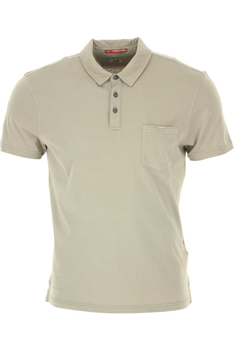 C.P. Company Polo Shirt for Men On Sale Pale Mud SE - GOOFASH