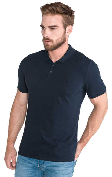 Calvin Klein Paul Polo Shirt Blue UK - GOOFASH