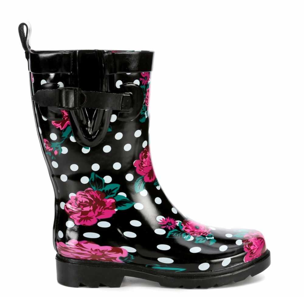 Capelli Womens Floral And Dots Black USA - GOOFASH