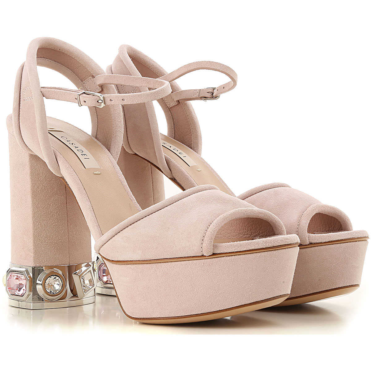 Casadei Sandals for Women in Outlet Light Powder Pink USA - GOOFASH