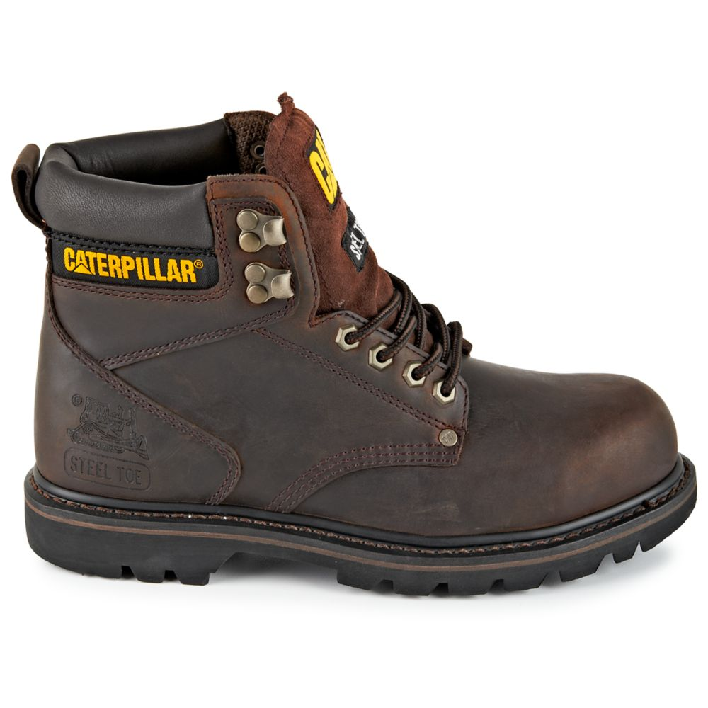 Caterpillar Mens Second Shift Brown USA - GOOFASH