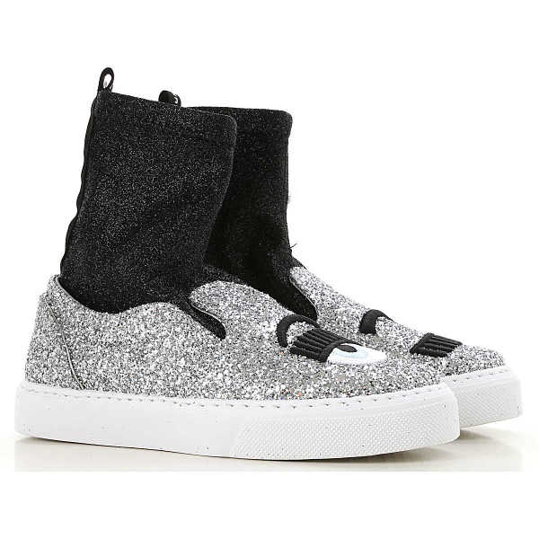 Chiara Ferragni Slip on Sneakers for Women On Sale Silver SE - GOOFASH