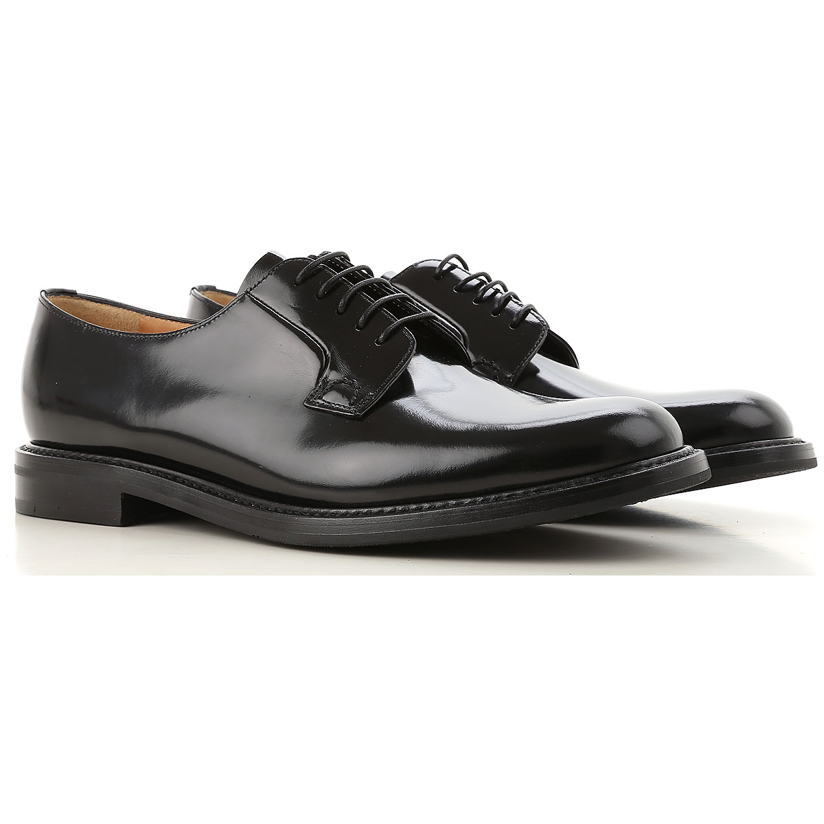 Church's Oxford Lace up Shoes for Women On Sale Black SE - GOOFASH