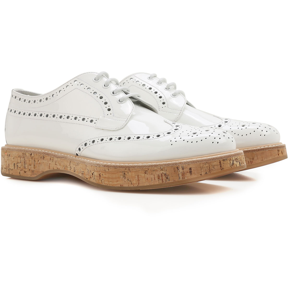 Church's Oxford Lace up Shoes for Women in Outlet White USA - GOOFASH