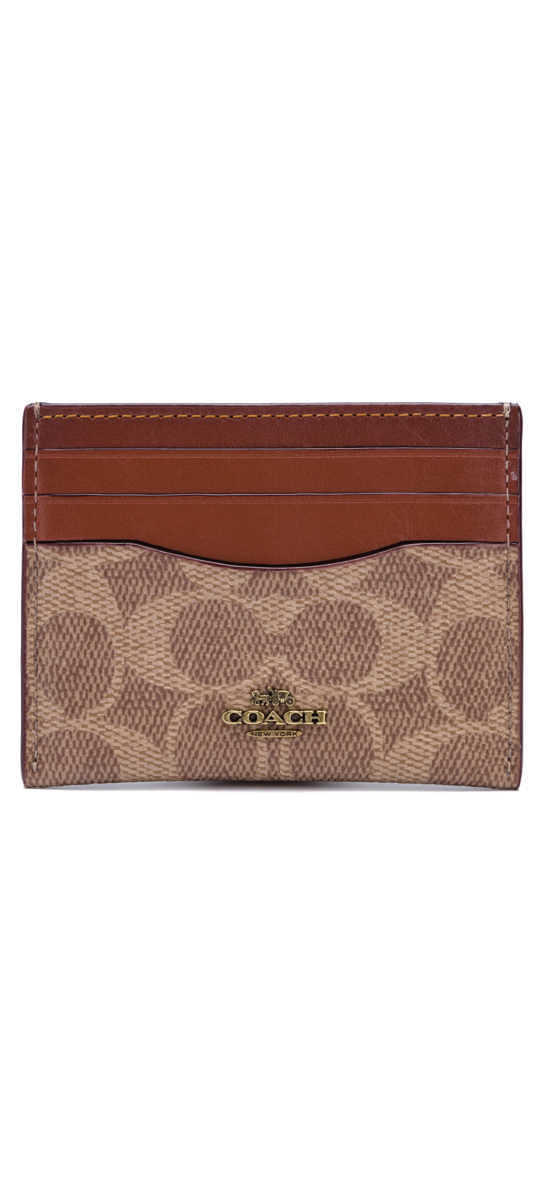 Coach Wallet for cards Brown UK - GOOFASH