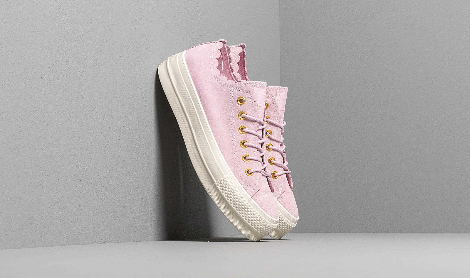 Converse Chuck Taylor AS Lift Scallop Blush UK - GOOFASH