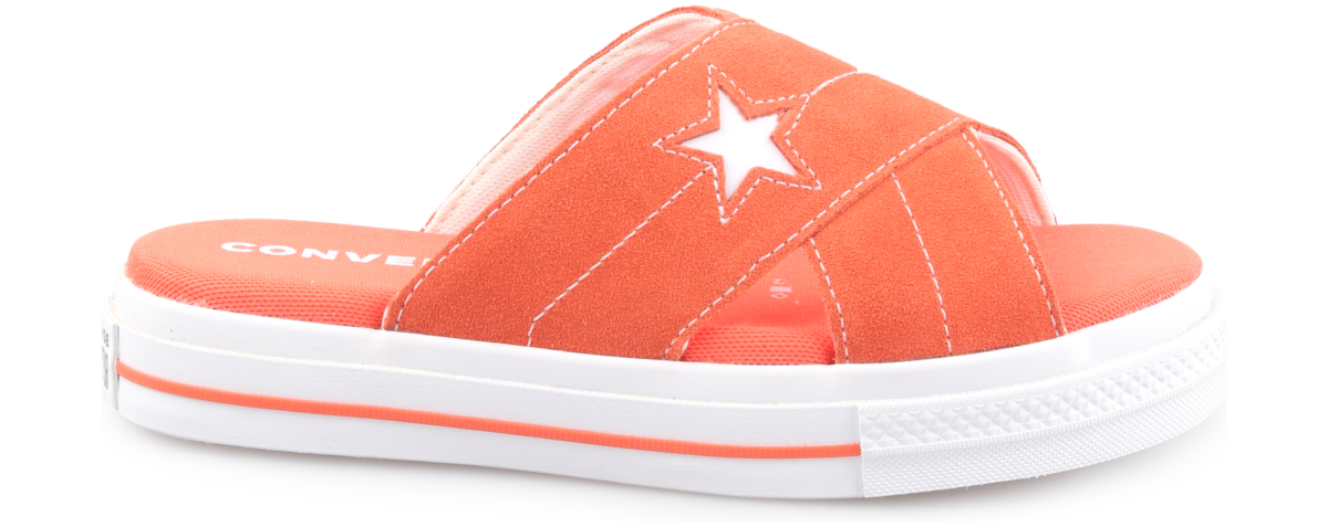 Converse One Star Slippers Orange UK - GOOFASH