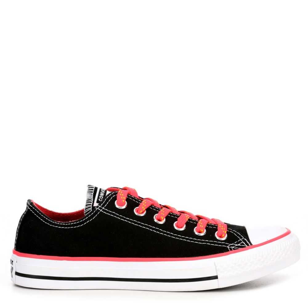 Converse Womens Chuck Taylor All Star Color Game Ox Sneakers Black USA - GOOFASH