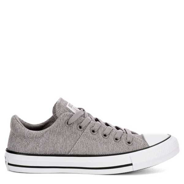 Converse Womens Chuck Taylor All Star Madison Ox Low Pepper Canvas Sneakers Grey USA - GOOFASH