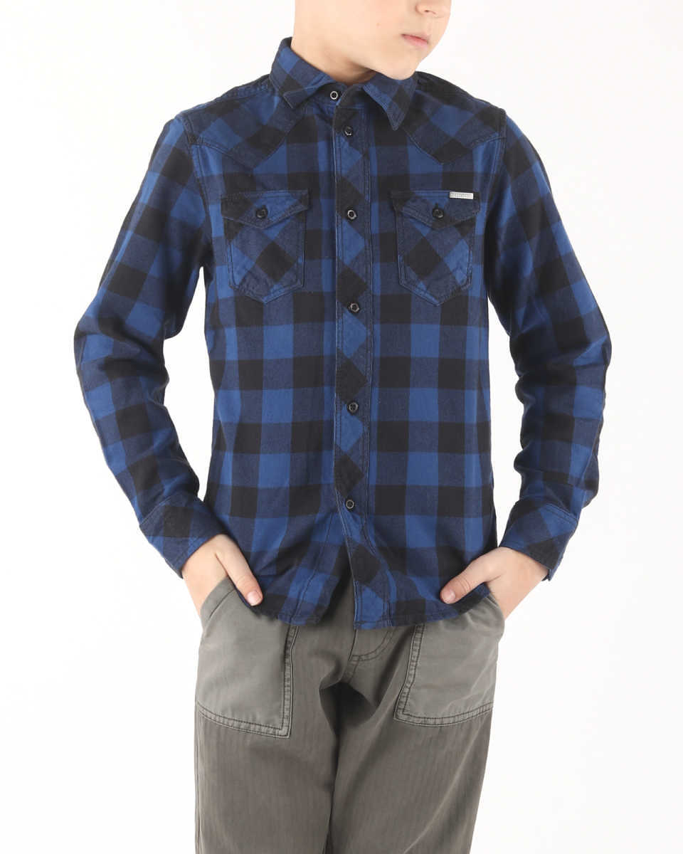 Diesel Cornel Kids shirt Blue UK - GOOFASH