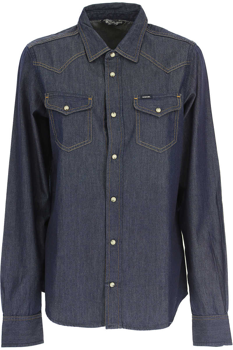 Diesel Shirt for Women in Outlet Dark Blue USA - GOOFASH