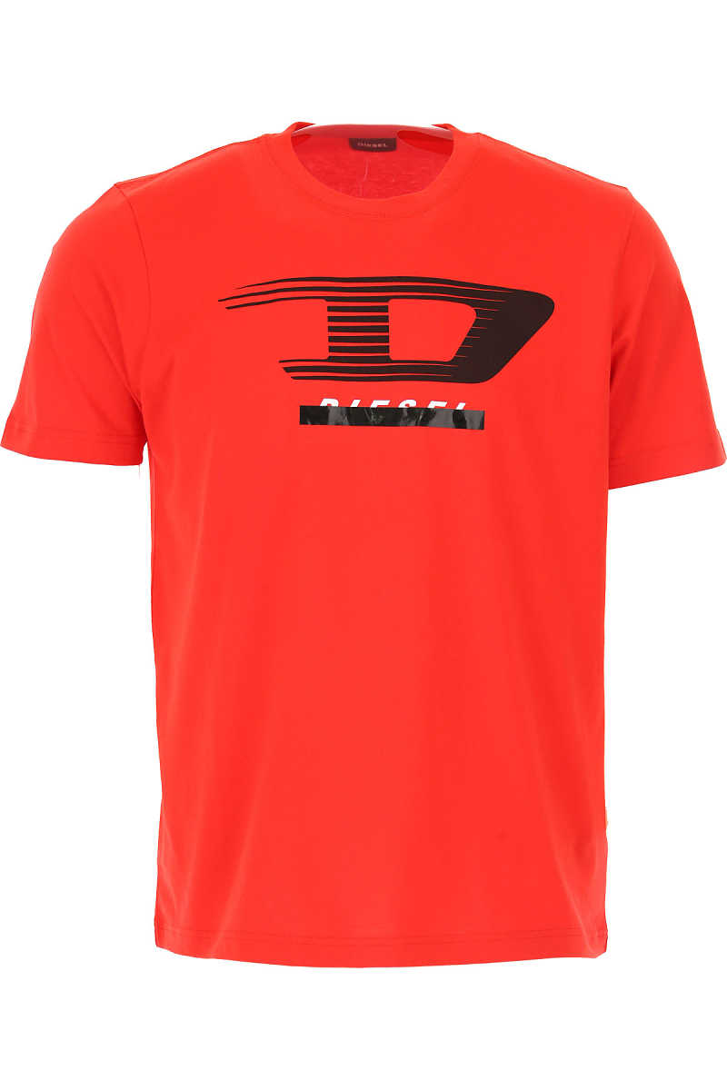 Diesel T-Shirt for Men On Sale Red SE - GOOFASH
