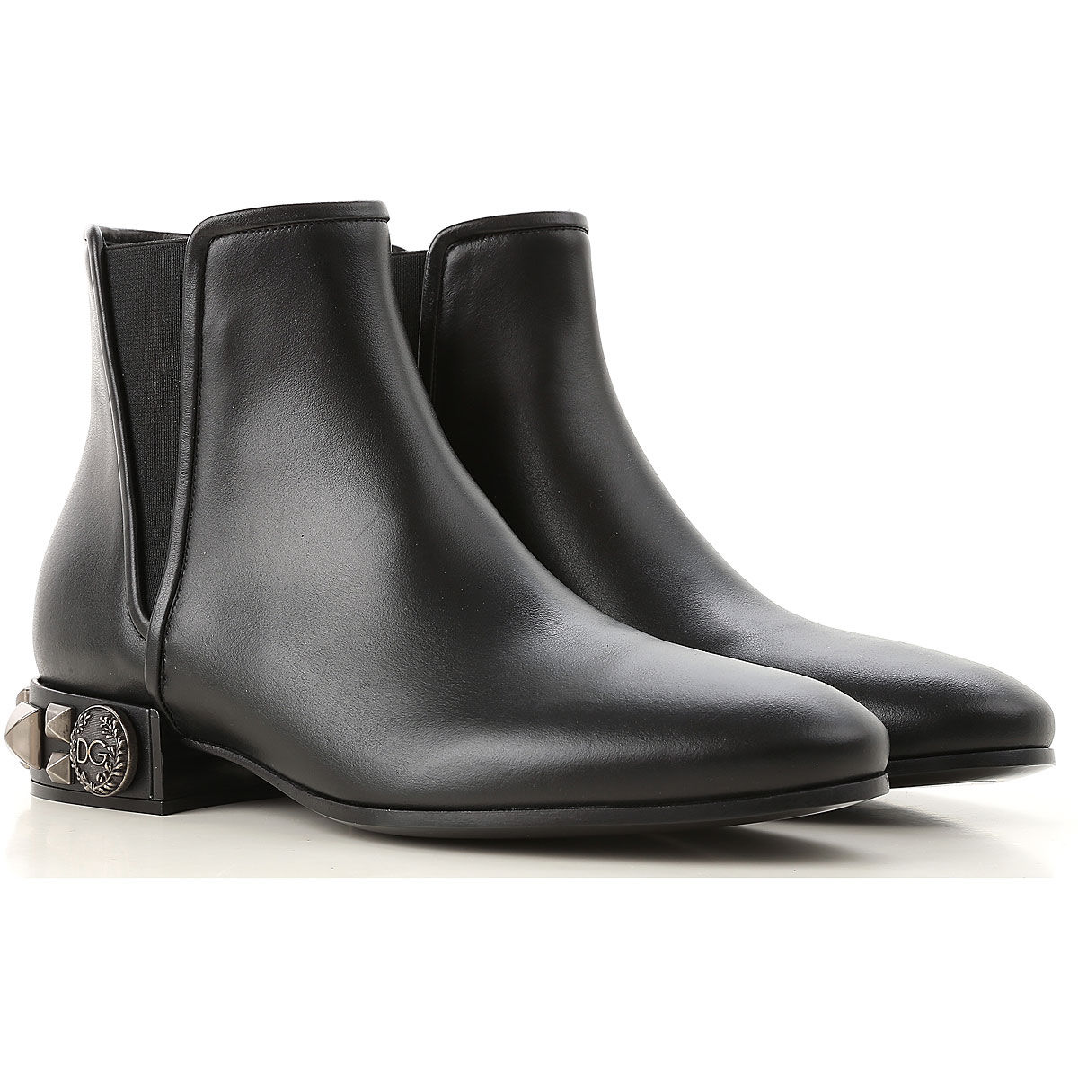 Dolce & Gabbana Chelsea Boots for Women Black USA - GOOFASH