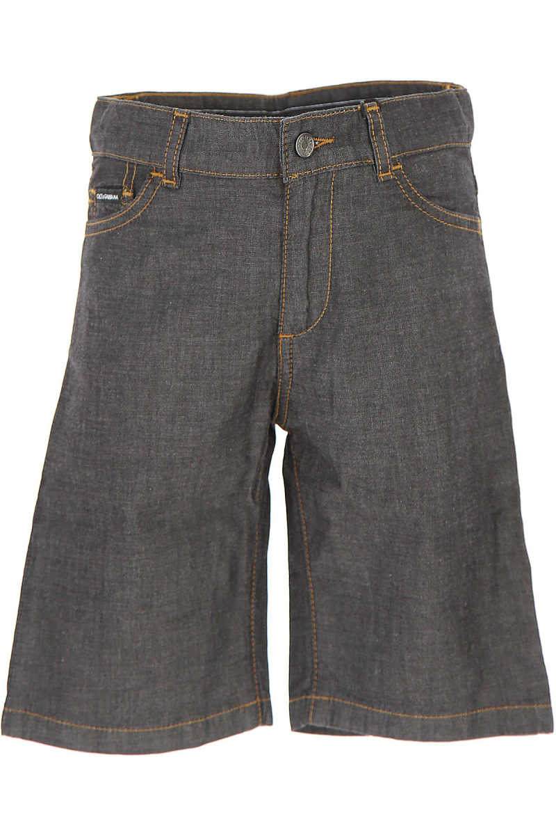 Dolce & Gabbana Kids Shorts for Boys in Outlet Anthracite USA - GOOFASH
