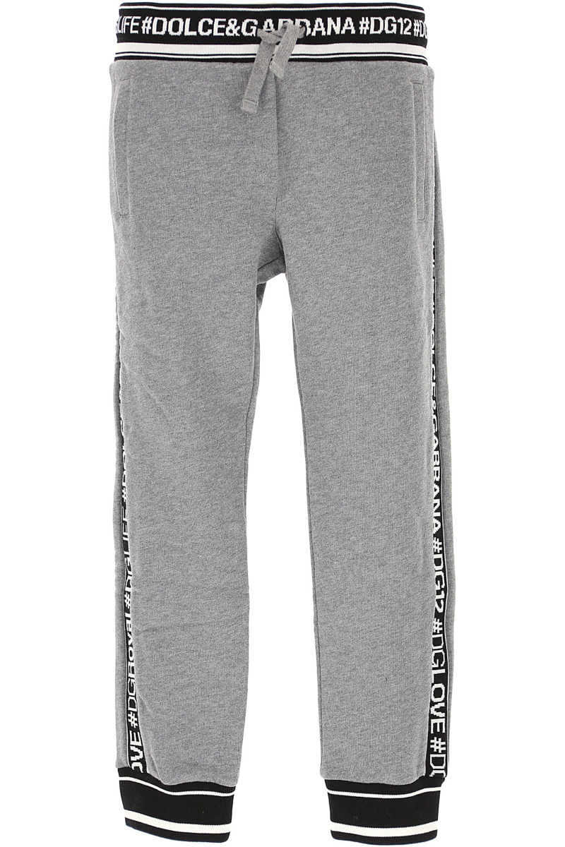 Dolce & Gabbana Kids Sweatpants for Boys in Outlet Grey USA - GOOFASH
