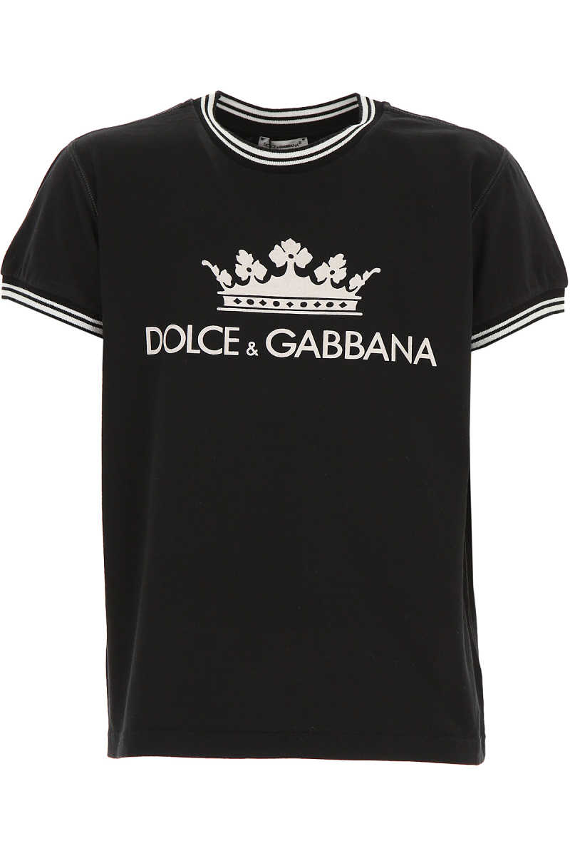Dolce & Gabbana Kids T-Shirt for Boys On Sale Black SE - GOOFASH