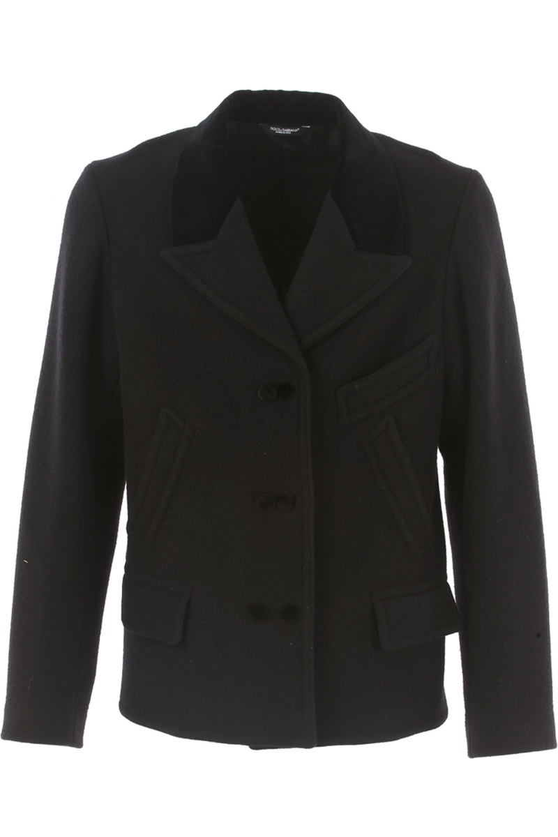 Dolce & Gabbana Men's Coat in Outlet Black USA - GOOFASH