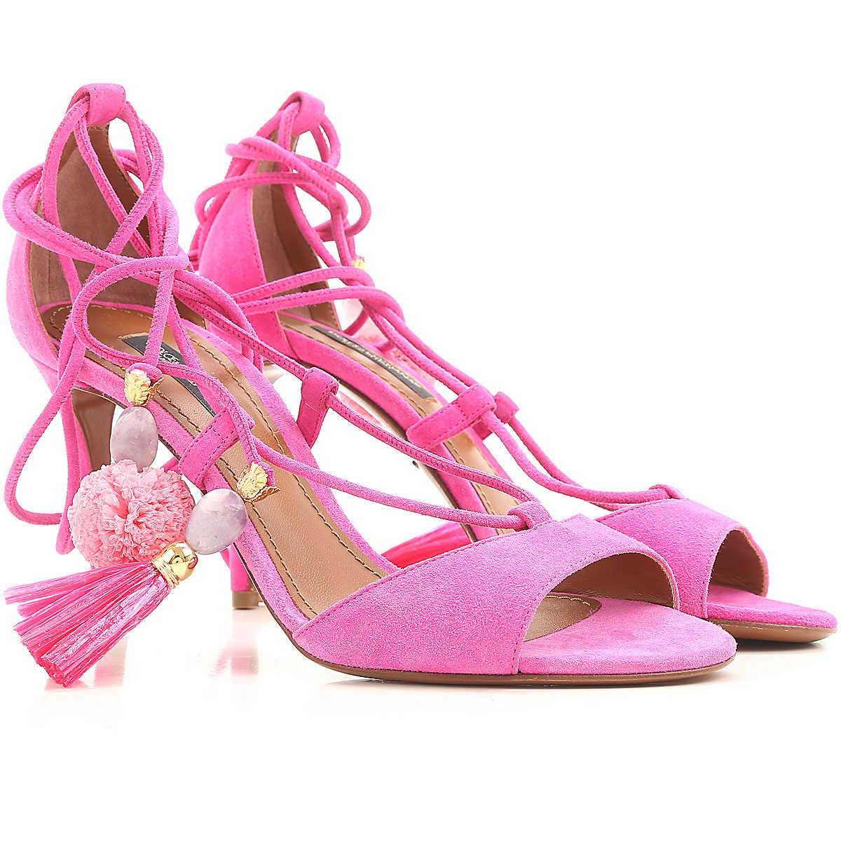 Dolce & Gabbana Sandals for Women On Sale in Outlet Fuchsia SE - GOOFASH