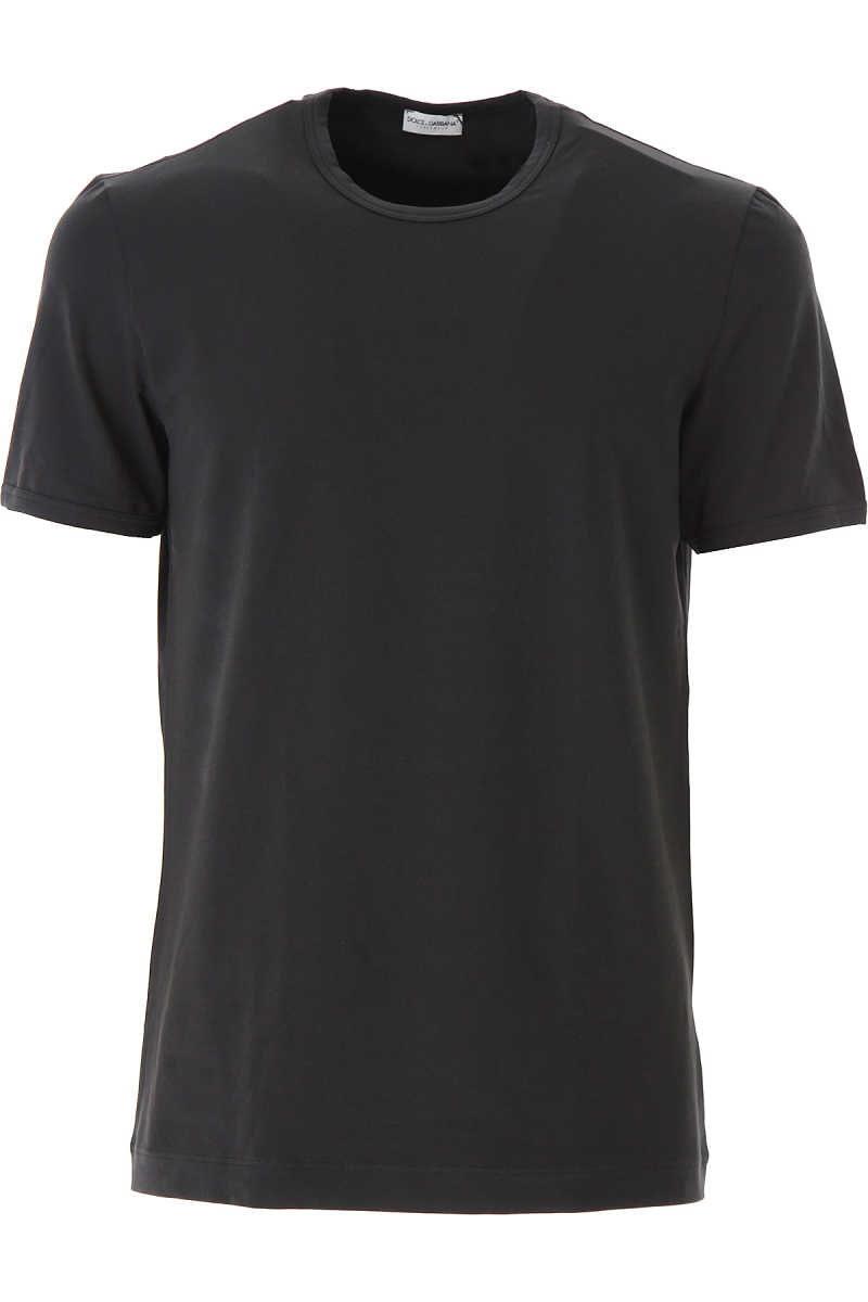 Dolce & Gabbana T-Shirt for Men On Sale Black SE - GOOFASH