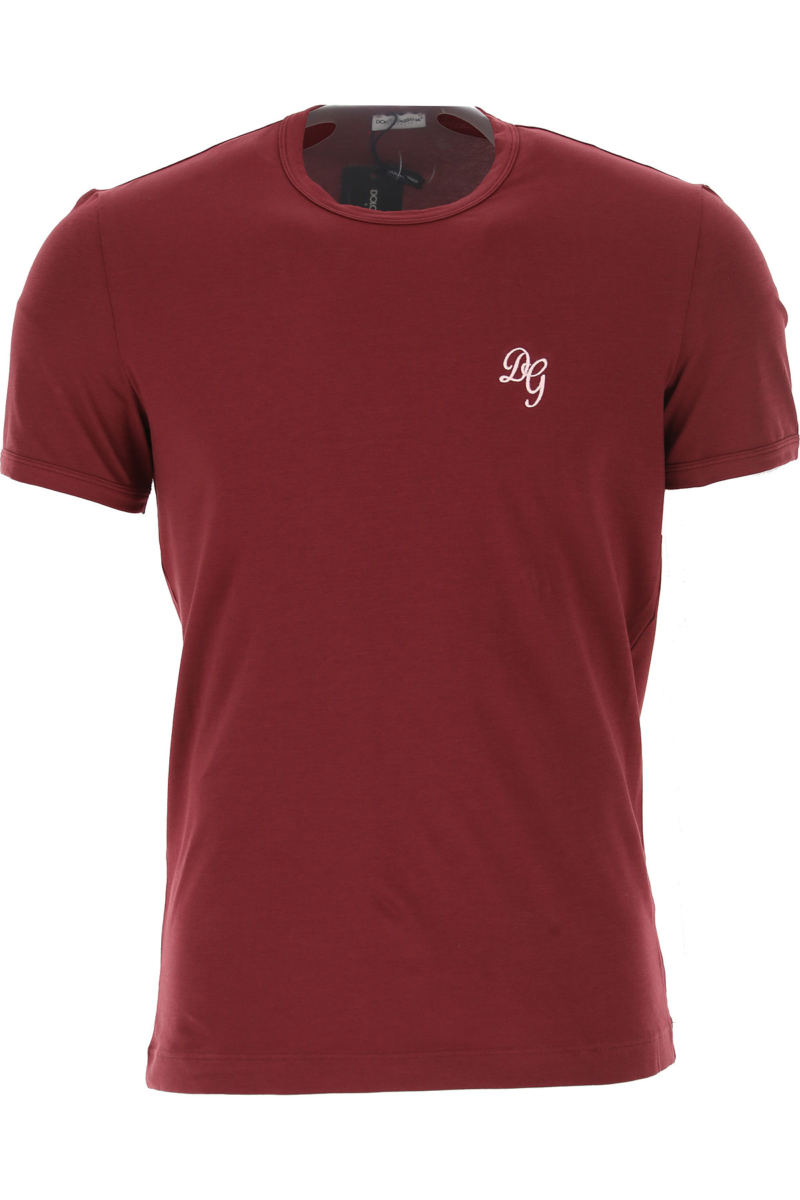Dolce & Gabbana T-Shirt for Men On Sale Bordeaux SE - GOOFASH