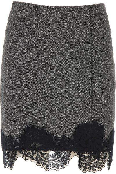 Dondup Skirt for Women Medium Grey USA - GOOFASH