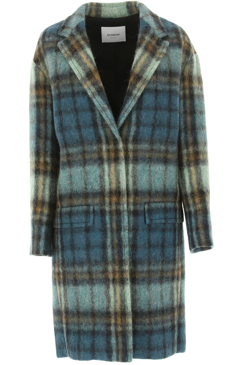 Dondup Women's Coat in Outlet Green USA - GOOFASH