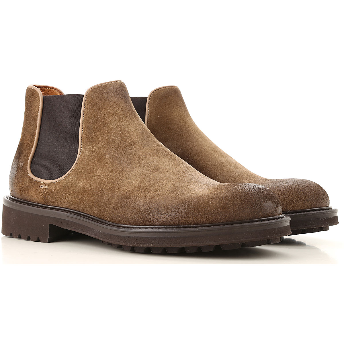 Doucals Chelsea Boots for Men Tobacco USA - GOOFASH