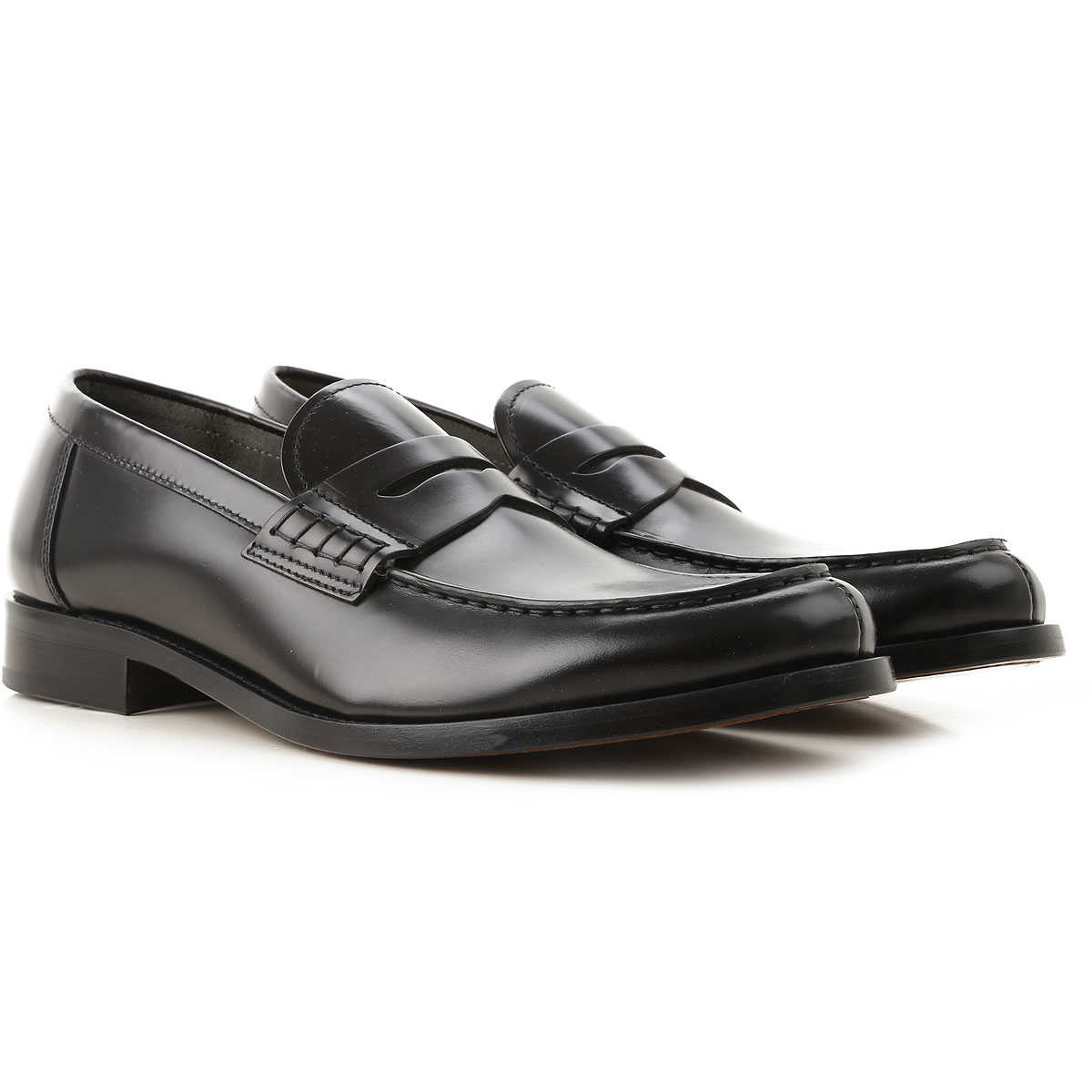 Doucals Loafers for Men Black USA - GOOFASH