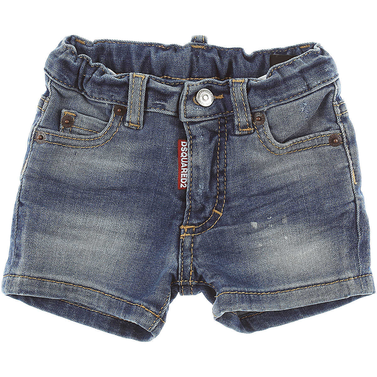 Dsquared2 Baby Shorts for Boys On Sale in Outlet Denim Blue SE - GOOFASH