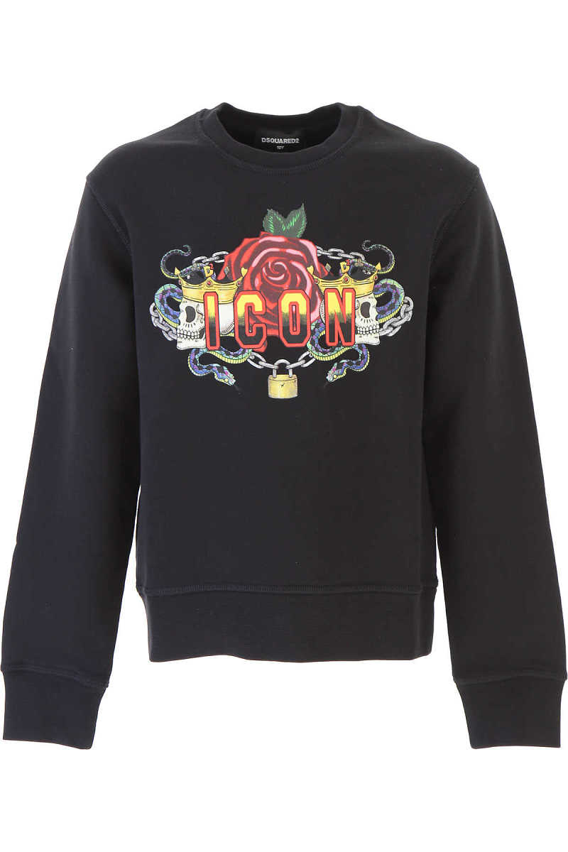 Dsquared2 Kids Sweatshirts & Hoodies for Boys On Sale in Outlet Black SE - GOOFASH