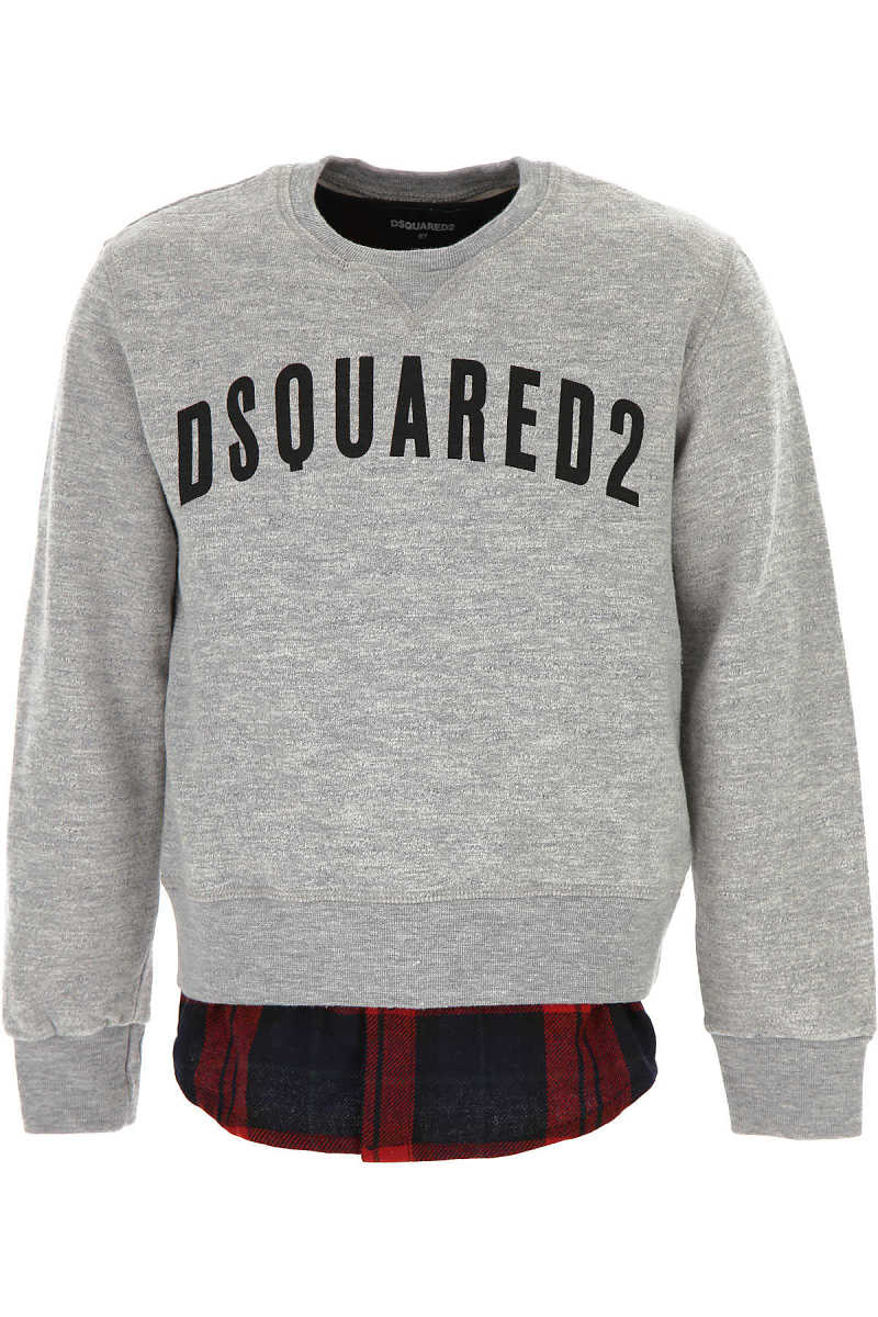 Dsquared2 Kids Sweatshirts & Hoodies for Boys in Outlet Grey USA - GOOFASH