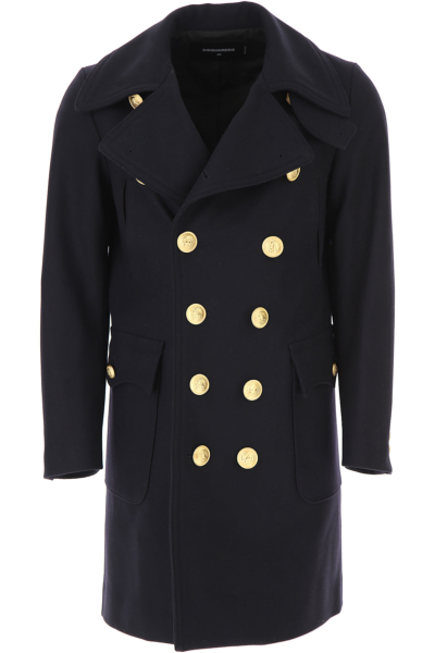 Dsquared2 Men's Coat Ink SE - GOOFASH