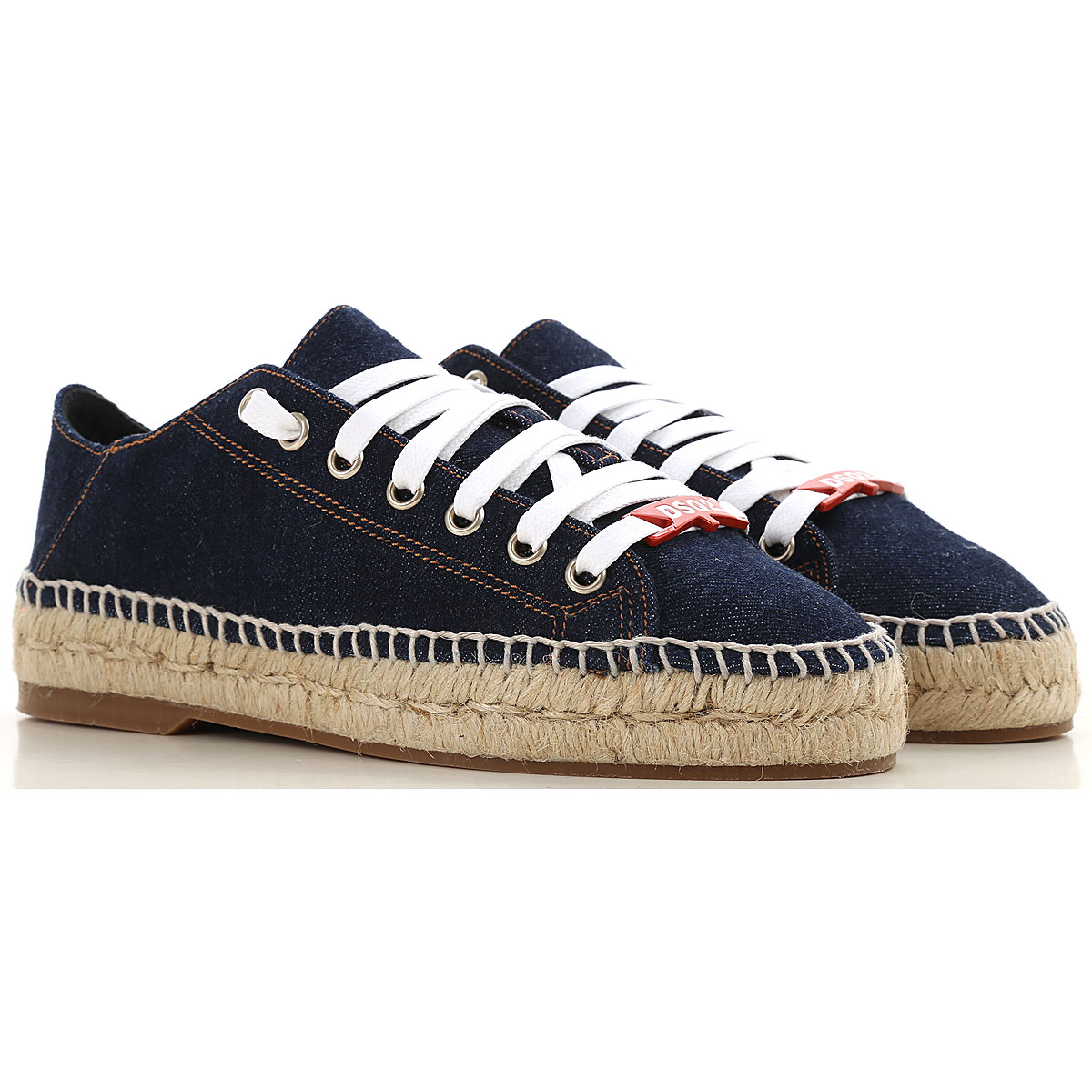 Dsquared2 Sneakers for Women in Outlet Blue Denim USA - GOOFASH
