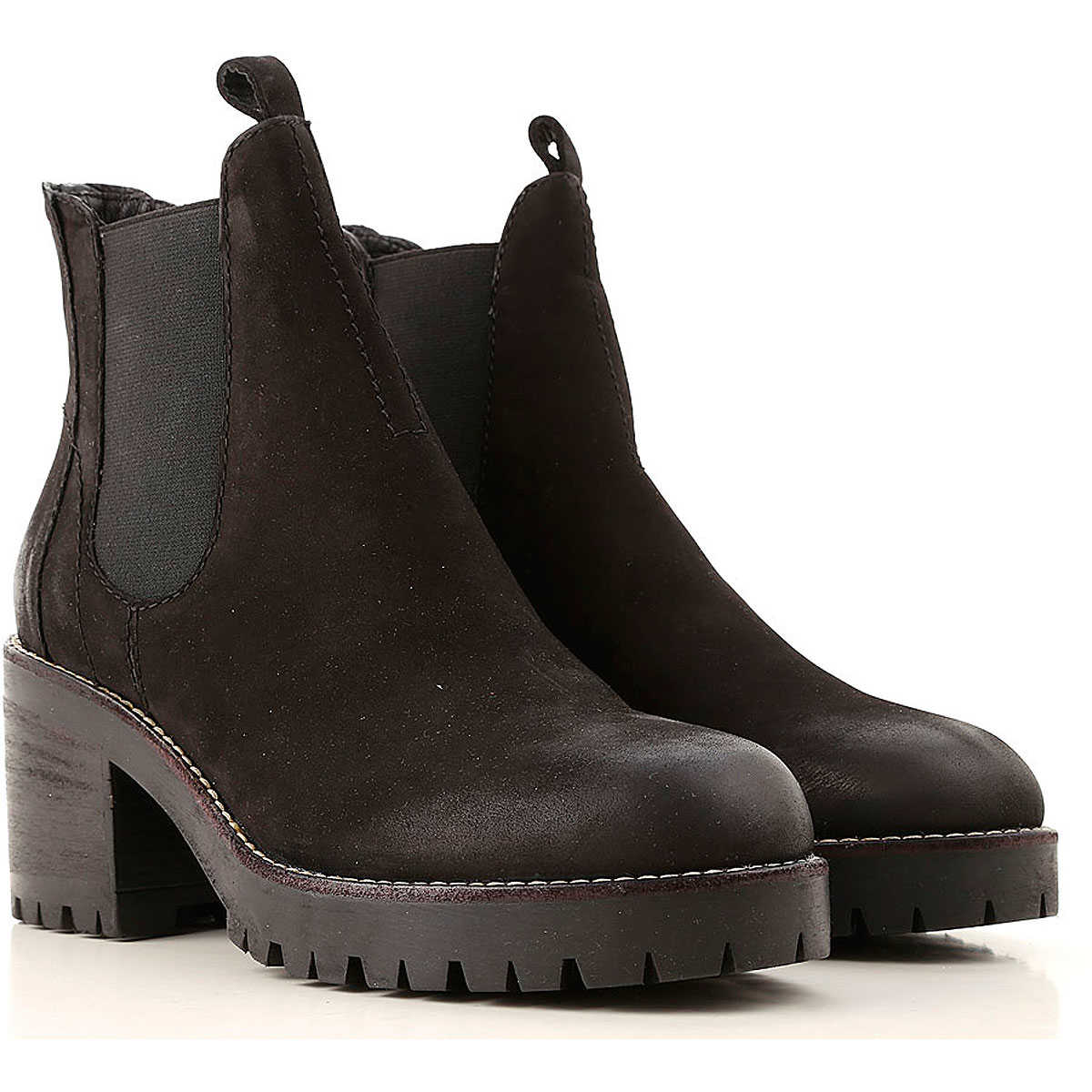 Elvio Zanon Chelsea Boots for Women Black SE - GOOFASH