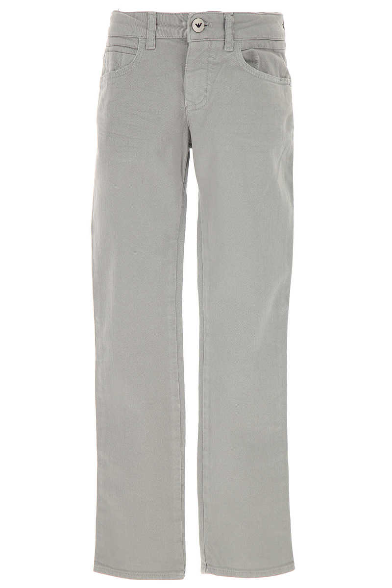 Emporio Armani Kids Jeans for Boys On Sale in Outlet Grey SE - GOOFASH